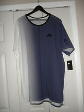 Nike Dip Dye Foam T-Shirt, Men's Size X-Large White/Purple (#AA8669 100)