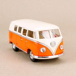 1962 Volkswagen Classic Kombi Van Microbus Minibus Campervan Orange Hippy 1:32