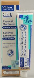 CET Virbac Enzymatic Dog & Cat Toothpaste Beef 2.5oz/70G Control Plaque & Tartar