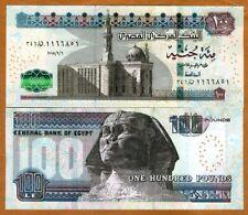 Egypt, 100 Pounds, 2018, P-New, UNC > Sphinx