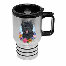 Cairn Terrier Black Stainless Steel 16oz Tumbler