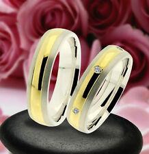 2 Trauring Eheringe Verlobungsringe , GOLD PLATIERT , J229-3