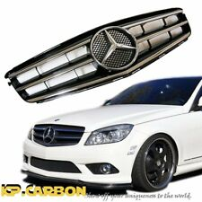 For M-B 12-14 W204 C250 C350 Sedan 4DR Black Chrome Style Replace Front Grille