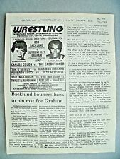 GLOBAL WRESTLING NEWS SERVICE#111 12/84 100'S RESULTS-NEWS ADS! NOSTALGIA! 6 PGS