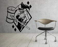 Harley Quinn Wall Vinyl Decals Super Hero Sticker DC Comics Art Decor (30jbat)