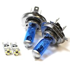 Peugeot 205 H4 501 55w ICE Blue Xenon High/Low/Canbus LED Side Headlight Bulbs