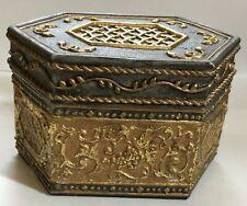 San Francisco Music Box Co Jewelry Trinket Box Gray Gold Pachelbel's Canon in D