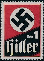 Stamp Replica Label Germany 0021 WWII Hitler Liste 1 MNH