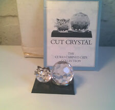 Franklin Mint Curio Cabinet Cat CUT CRYSTAL boxed & leaflet RARE