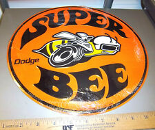 NEW Metal embossed Sign, Dodge Super Bee, 11.75 inches great for garage wall