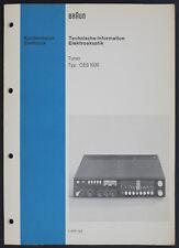 Marron CES-1020 D'Origine Tuner Manuel de Service / Informations Techniques /