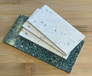 Lot of 3x 1:12 Scale Marble Look Resin Fireplace Hearth, 1x Green and 3x White