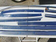10pz Modanature in acciaio  per 124 Coupè Vignale Eveline - Usate- Originali