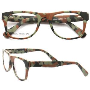 Hand Made Full Rim Camo Camouflage Eyeglasses Square Glasses Frames Men Women