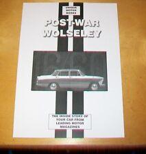 POST-WAR WOLSELEY  ROAD TEST +  SERVICE DATA REPRINT BOOK  15/50 6/90 6/99 18/85