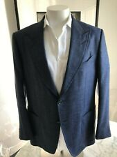 Men's TOM FORD Sports Coat Jacket Wool Silk Linen Blend. EU56R US 46R Excellent.