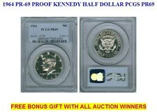 1964 PR-69 SILVER PROOF KENNEDY HALF DOLLAR PCGS PR69