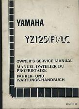 (26B) REVUE TECHNIQUE MANUEL ATELIER MOTO YAMAHA YZ125F / LC