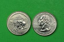 2011 P&D  BU Mint State (Glacier) US National Park Quarters ( 2 coins)