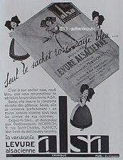 PUBLICITE ALSA LEVURE ALSACIENNE POUDRE Ets MOENCH NANCY DE 1933 FRENCH AD PUB