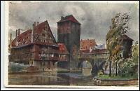 Nürnberg Bayern alte Ansichtskarte 1912 gelaufen Partie am Henkersteg Nuremberg