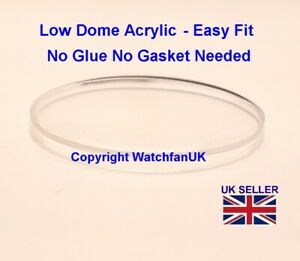 Watch Glass Acrylic Crystal - Domed - 1.0mm thick range 17 mm to 40mm EASY FIT