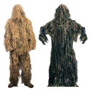 Lightweight Ghillie Complete Suit Hunting Paintball Camo Jacket & Pants Set