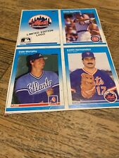 1987 Fleer Baseball Card Box Bottom Panel.  Mets/Sandberg/Murphy/Hernandez