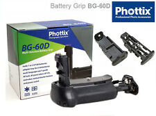 PHOTTIX® Battery Grip BG-60D per CANON EOS 60D BG-E9 Premium Series Impugnatura