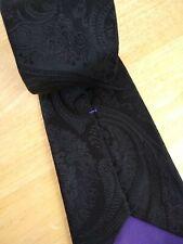 * RALPH LAUREN * Purple Label Black Paisley Silk Italy Necktie Tie
