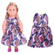 "18"" Doll Clothes. Handmade Patterned Dress For 18"" American Girl Dolls"