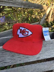 Vintage Chiefs 2000s Nutmeg American Needle Kansas City Chiefs NFL Strapback Hat
