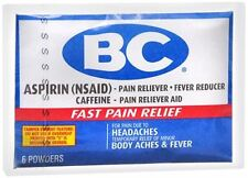 BC Original Formula Pain Relief Powders 6 Each (Pack of 5)