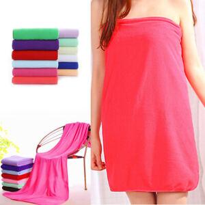 Absorbent Microfiber Quick Drying Bath Towel Wrap Dress Large Swimwear Shower