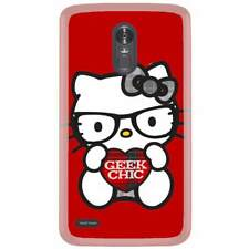 For LG Aristo Skin Case Cover Hello Kitty Nerd Red