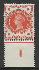 ½d Vermillion control I perf single MOUNTED MINT - margin only