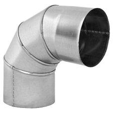 Galvanised Steel Elbow 90 Degree Stove Metal Bend Chimney Liner Pipe Duct Tube