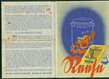 Altes Rezept-Faltblatt Reese Hameln Rezepte Salizyl Einkochen Einmachen 1930er