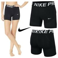 "Nike Womens Shorts Ladies Pro 5"" Training Short Inner Tights Size XS S M L XL"