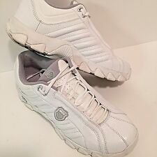 K Swiss White Leather 12 M Tennis Trainers 329 Low884142