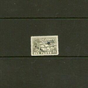 New Guinea 1 Pound Village Hut Stamp