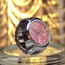 Dial Quartz Analog Watch Creative Steel Cool Elastic Quartz Finger Ring Watch RD