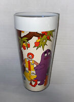 Rare Never Used Vintage McDonald's 1978 Thermo Serv Plastic McDonaldland Cup