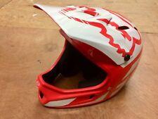 Fox Rampage MTB Down Hill Full Face Helmet Red/white 55-56cm SML