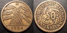 Allemagne - République de Weimar - 50 rentenpfennig 1924 A, Berlin - KM#34