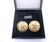 Chanel Vintage CC Yellow Gold-Plated Clip-On Earrings