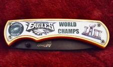 Philadelphia Eagles Super Bowl Knife Limited Edition Spring Assisted Knife clip
