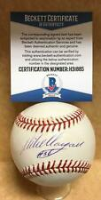MIKE MORGAN DODGERS/CUBS SIGNED AUTOGRAPHED M.L. BASEBALL BECKETT H31885