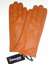 Ladies Thinsulate Genuine Leather Texting Gloves,Large, Cognac