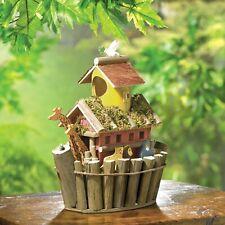 Brown Plywood Noah's Ark Hanging Wooden Birdhouse Garden Decor